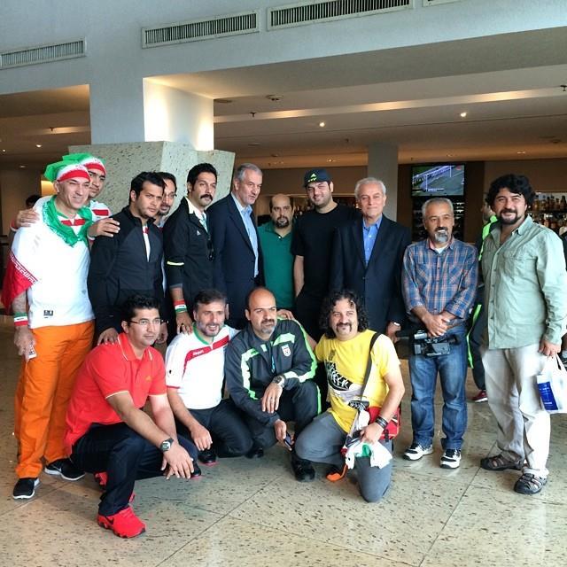عکس بازیگران در جام جهانی برزیل 2014 | عکس ایرانیان در جام جهانی 2014 | تصاویر هنرمندان حامی تیم ملی در بازی ایران آرژانتین | عکسهای بازی ایران آرژانتین 2014