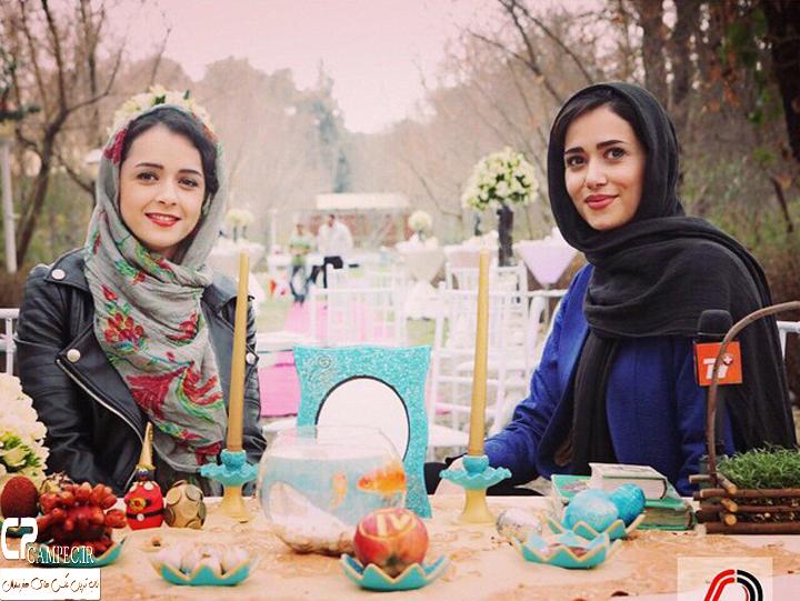 پریناز ایزدیار و ترانه علیدوستی پای سفره هفت سین