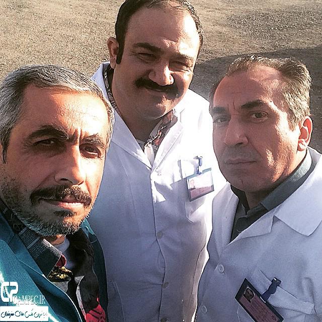 سایمک انصاری،مهران غفوریان و جواد رضویان بازیگران سریال در حاشیه