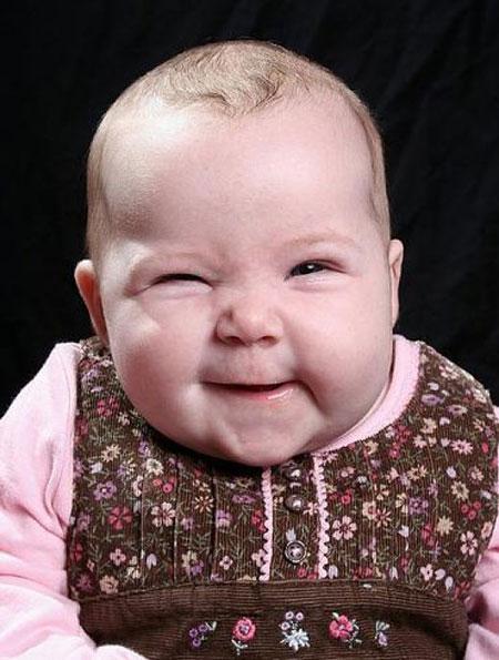 عکس خنده دار از کودکان بامزه