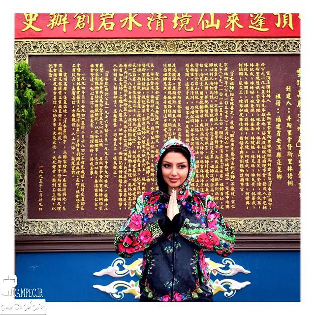 عکس جدید مهسا کامیابی در کشور چین
