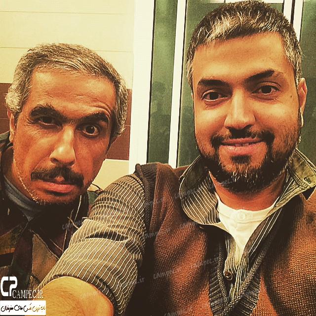 عکس جواد رضویان در پشت صحنه سریال در حاشیه
