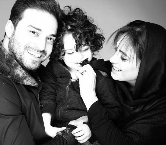 بابک جهابنخش و همسر و فرزندش
