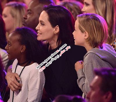 لحظات بسیار شاد آنجلینا جولی و دخترانش