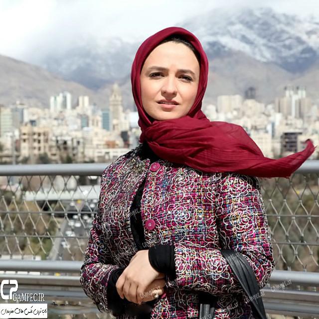 گلاره عباسی در پشت صحنه برنامه نشان مهربانی