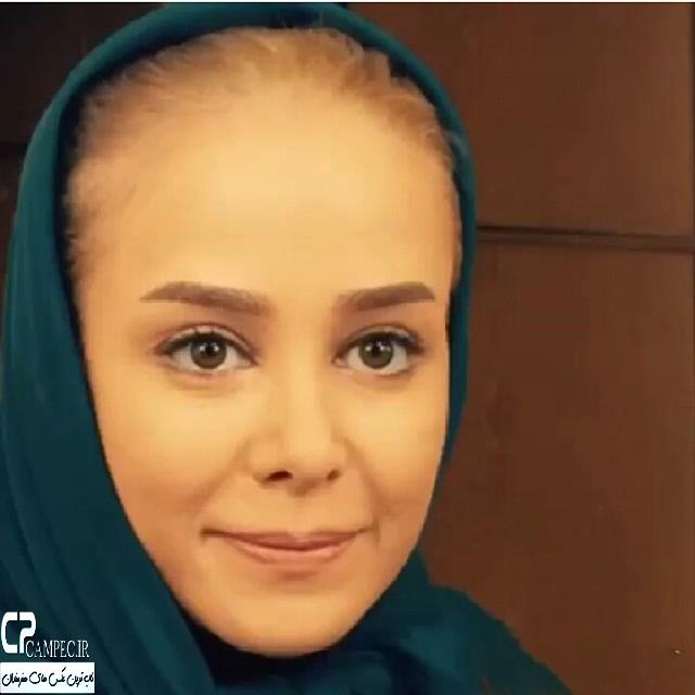 الناز حبیبی در پشت صحنه سریال سر به راه