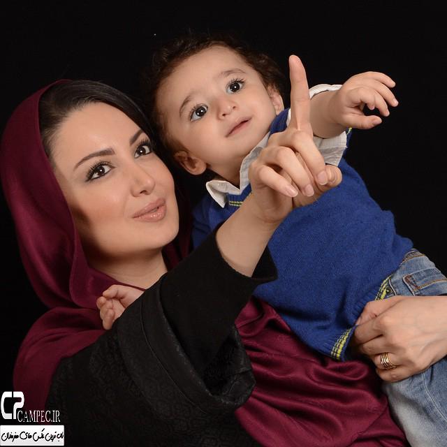 شیلا خداداد و پسرش سامیار