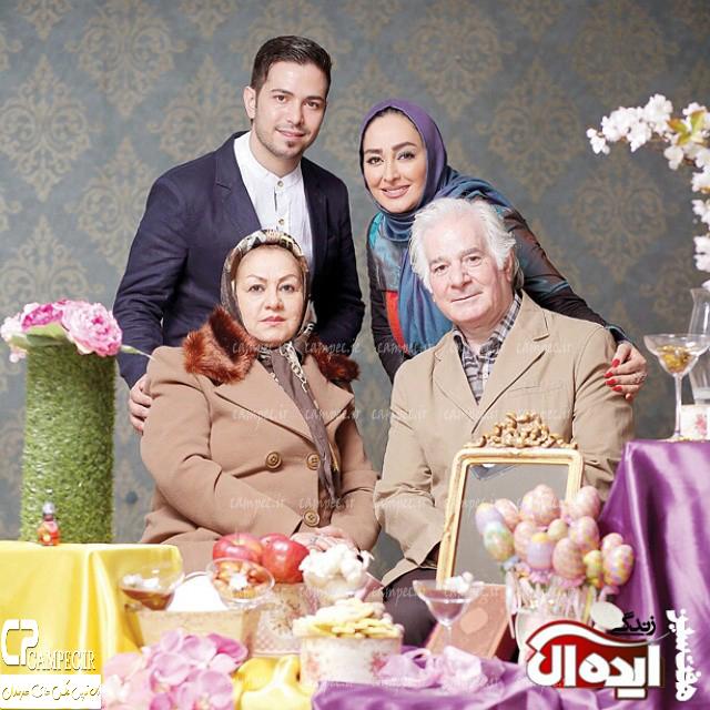 الهام حمیدی به همراه خانواده اش
